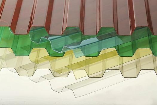 Trapézové a vlnité desky z polykarbonátu